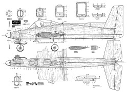 T-45 Hegi plan model airplane plan
