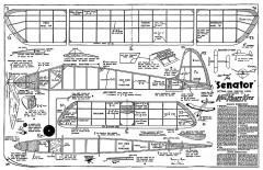 Senator Keil Kraft model airplane plan