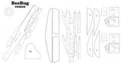 BeeBug parts model airplane plan