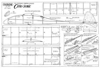 Cirro-Sonic model airplane plan