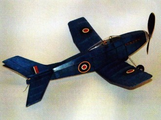 Corsair model airplane plan