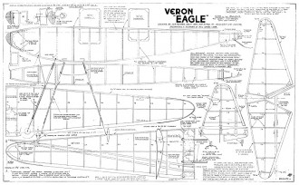 Eagle Veron wakefield model airplane plan