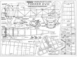 Fokker DVIII Veron model airplane plan