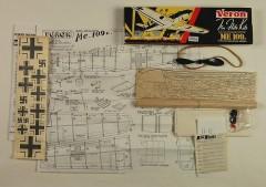 ME 109 G model airplane plan