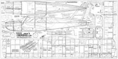 Veron Cherokee C108 model airplane plan