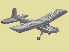 Hustler Mk I model airplane plan
