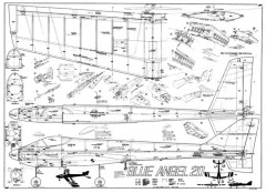Blue Angel 20 model airplane plan