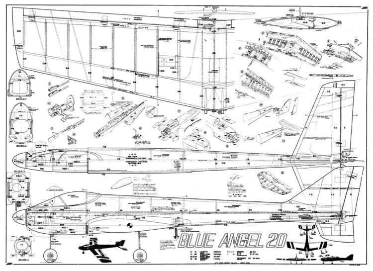 Blue Angel 20 model airplane plan
