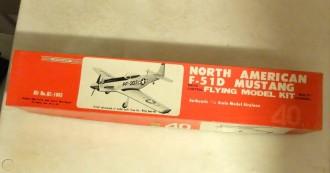 North American F-51D Mustang model airplane plan