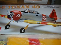 North American T-6 Texan model airplane plan