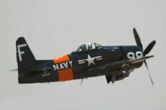 Grumman F8F-2 Bearcat model airplane plan