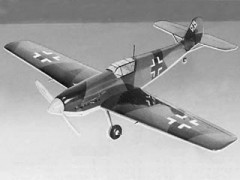 1/2A BF 109E model airplane plan