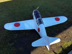 Mitsubishi J2M3 Raiden model airplane plan