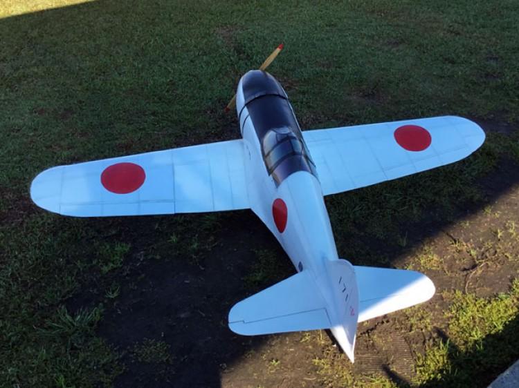 Mitsubishi J2M3 Raiden model airplane plan