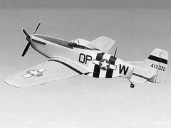P-51D Mustang Type S model airplane plan