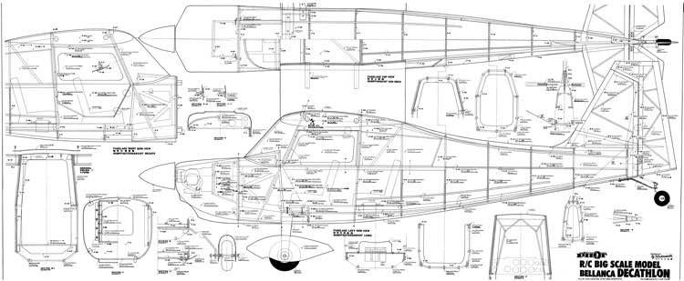 Bellanca Decathlon 96 inch model airplane plan