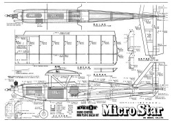 Micro Star model airplane plan