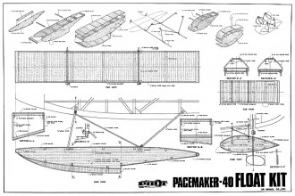 Pacemaker 40 Floats model airplane plan