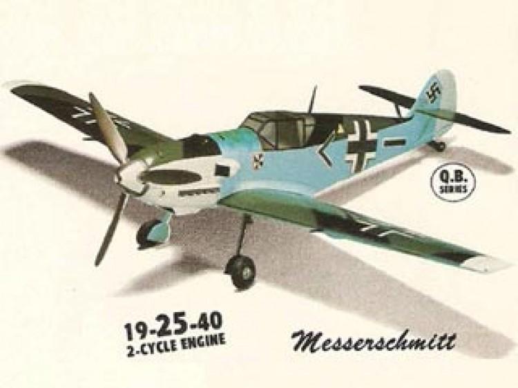 Messerchmitt Me 109E model airplane plan