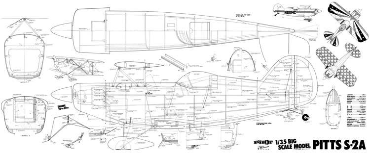 Pitts S-2a model airplane plan