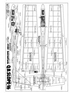 Q.B. Slope 16 model airplane plan