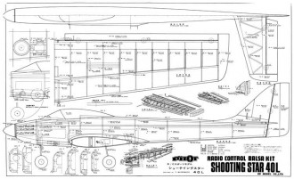 Shooting Star 40L model airplane plan