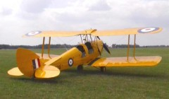 D.H Tiger Moth 88in. model airplane plan