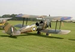 D.H Tiger Moth 47in. model airplane plan