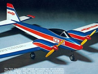 Twin Ace Pilot model airplane plan