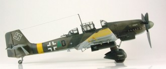 Junkers Ju-87D-5 Stuka model airplane plan