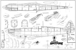 Spitfire VIII model airplane plan