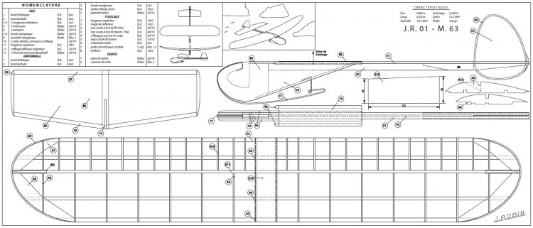 JR01 model airplane plan