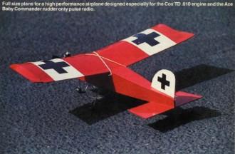 Littlest Stick model airplane plan