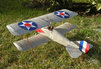 Thomas-Morse S-4C model airplane plan