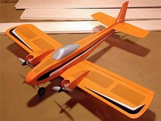 Skylark Twin 1S Micro  model airplane plan