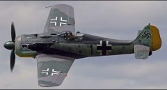 Focke Wulf 190a model airplane plan