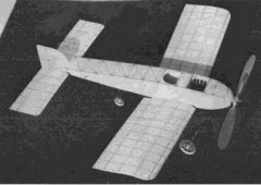 1908 Bleriot IV model airplane plan