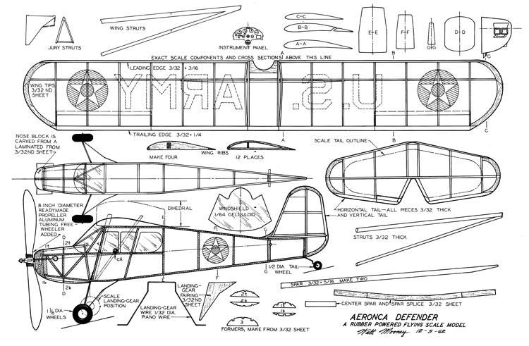 Aeronca Defender model airplane plan