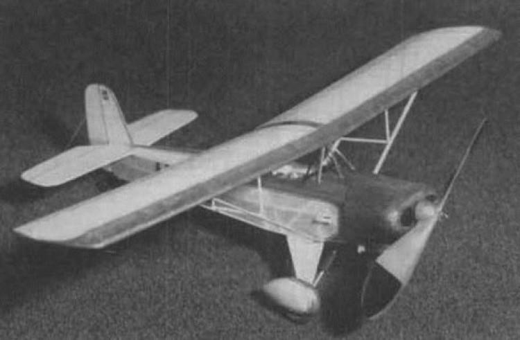 Baby Ace (Upton) model airplane plan