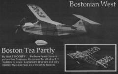 Bostonian West model airplane plan