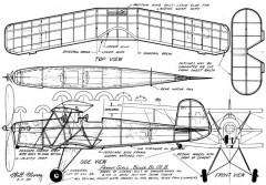 Bucker Bu-131b Jungmann model airplane plan