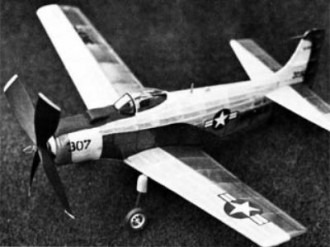 Douglas AD-4B Skyraider model airplane plan
