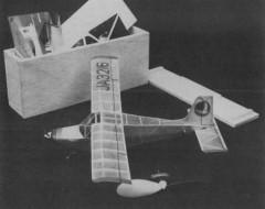 Itoh 62-160 model airplane plan