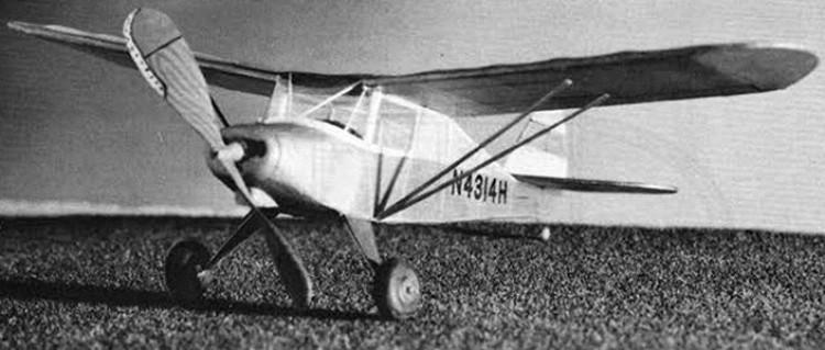 Piper PA-15 Vagabond model airplane plan