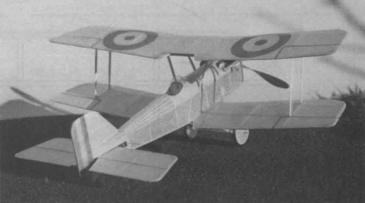 SE5 model airplane plan
