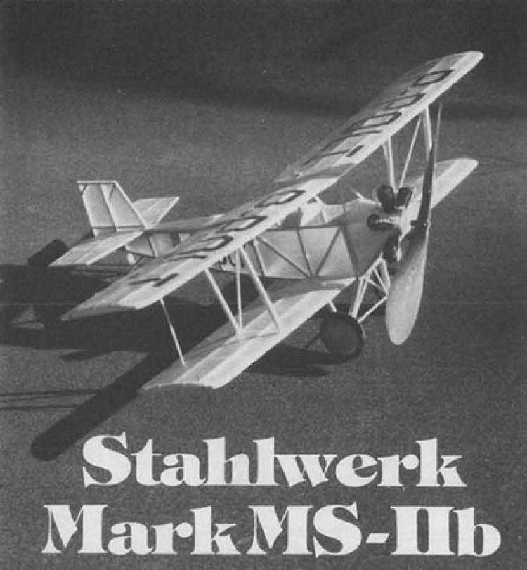 Stahlwerk Mark MS-IIb model airplane plan