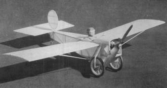 White Monoplane 1919 model airplane plan