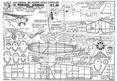 Bourgois Senemaud AT.35 model airplane plan