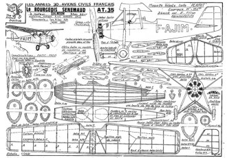 Bourgois Senemaud AT.35 model airplane plan