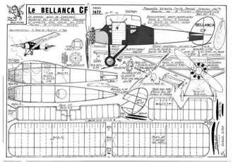 Bellanca CF model airplane plan